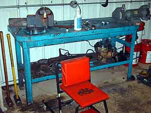 4 Metal Work Benches Image